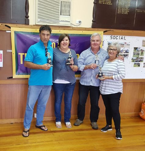 Mixed Pairs Champions Tom Zee and Louise Saffigna with Runners-Up Steve and Kerry Carr