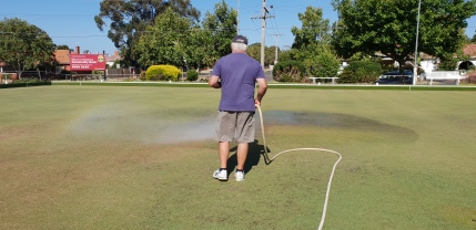 A hard day's play in warm conditions needed lots of watering care